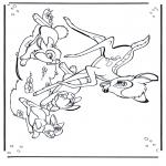 Ausmalbilder Comicfigure - Bambi 1