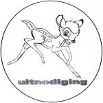 Ausmalbilder Comicfigure - Bambi Einladung