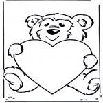 Allerhand Ausmalbilder - Bär mit Herz
