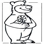 Ausmalbilder Tiere - Bär