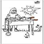 Allerhand Ausmalbilder - Barbecue