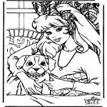 Ausmalbilder Comicfigure - Barbie 10