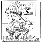 Ausmalbilder Comicfigure - Barbie 12