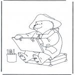 Ausmalbilder für Kinder - Bärchen Paddington 1