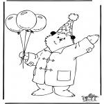 Ausmalbilder für Kinder - Bärchen Paddington 3