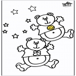 Ausmalbilder Tiere - Bären