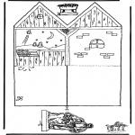 Bibel Ausmalbilder - Bastelanleitung weihnachtshaus