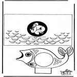 Bibel Ausmalbilder - Basteln Bibel Jona