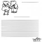 Malvorlagen Basteln - Basteln Briefpapier