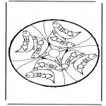 Basteln Stechkarten - Basteln kostenlos Stechkarte