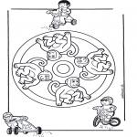 Malvorlagen Mandalas - Basteln Mandala gratis