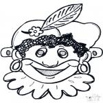 Basteln Stechkarten - Basteln Maske