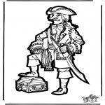 Basteln Stechkarten - Basteln Pirat
