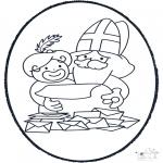 Basteln Stechkarten - Basteln Sankt Nikolaus