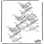 Malvorlagen Basteln - Basteln Wieviel Flugzeuge