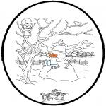 Basteln Stechkarten - Basteln winter 7