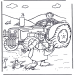 Allerhand Ausmalbilder - Bauer und Bäuerin