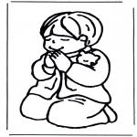 Bibel Ausmalbilder - Betender Junge