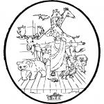 Bibel Ausmalbilder - Bibel Stechkarte 2