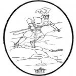 Bibel Ausmalbilder - Bibel Stechkarte 3