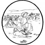 Bibel Ausmalbilder - Bibel Stechkarte 4