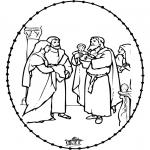 Bibel Ausmalbilder - Bibel Stickkarte 1