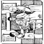 Bibel Ausmalbilder - Bibel Taufe 1