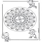 Malvorlagen Mandalas - Bleistiftemandala