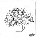 Allerhand Ausmalbilder - Blumen 2