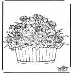 Allerhand Ausmalbilder - Blumen 3