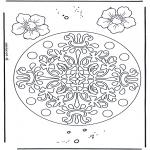 Malvorlagen Mandalas - Blumen Geomandala