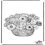 Allerhand Ausmalbilder - Blumen malvorlagen
