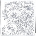 Allerhand Ausmalbilder - Blumen mit Elfen