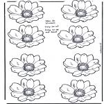 Malvorlagen Basteln - Blumen Mobil