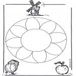 Malvorlagen Mandalas - Blumenmandala 1