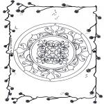 Malvorlagen Mandalas - Blumenmandala 5