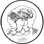 Basteln Stechkarten - Blumenstechkarte