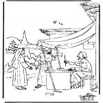 Bibel Ausmalbilder - Boaz und Ruth