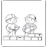 Ausmalbilder für Kinder - Bob der Baumeister  2