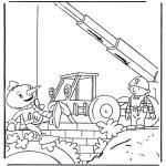 Ausmalbilder für Kinder - Bob der Baumeister 3