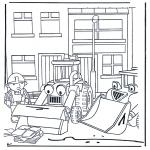 Ausmalbilder für Kinder - Bob der Baumeister 4