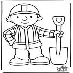 Ausmalbilder für Kinder - Bob der Baumeister 5