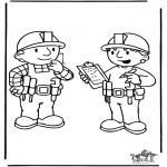 Ausmalbilder für Kinder - Bob der Baumeister 6