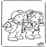 Ausmalbilder für Kinder - Bob der Baumeister 8