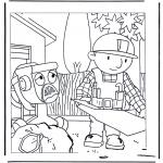 Ausmalbilder für Kinder - Bob der Baumeister