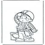 Ausmalbilder für Kinder - Bob mahlt