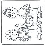 Ausmalbilder für Kinder - Bob und Wendy