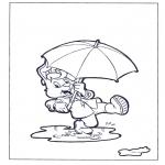 Ausmalbilder für Kinder - Bobo 2