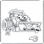 Ausmalbilder für Kinder - Bob's Bulldozer
