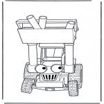 Ausmalbilder für Kinder - Bob's Radlader